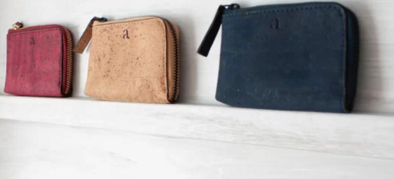 ヴィーガンレザー、財布,、アーシャ、aasha