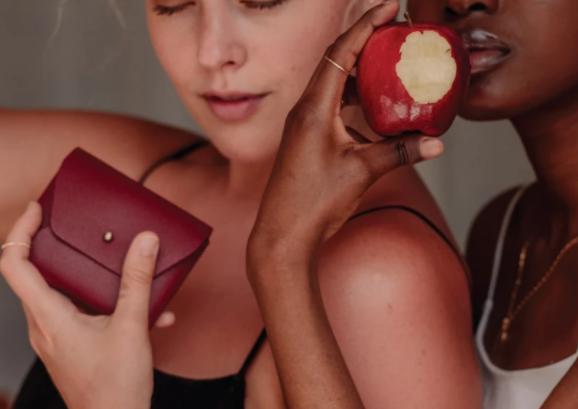 ヴィーガンレザー、財布、アップルレザー