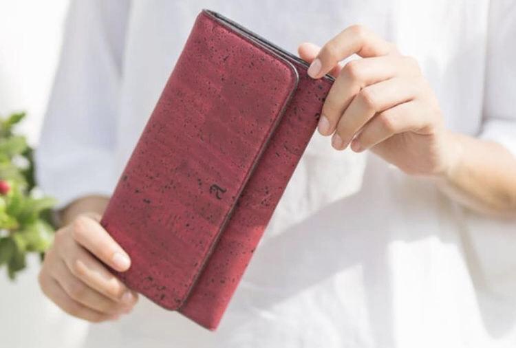 ヴィーガンレザー、財布