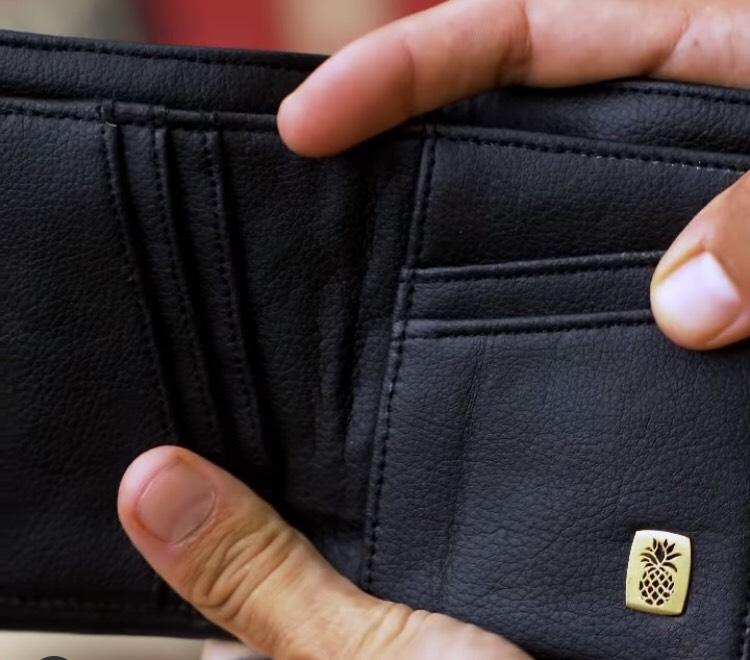 パイナップルレザー、ヴィーガン、革、財布