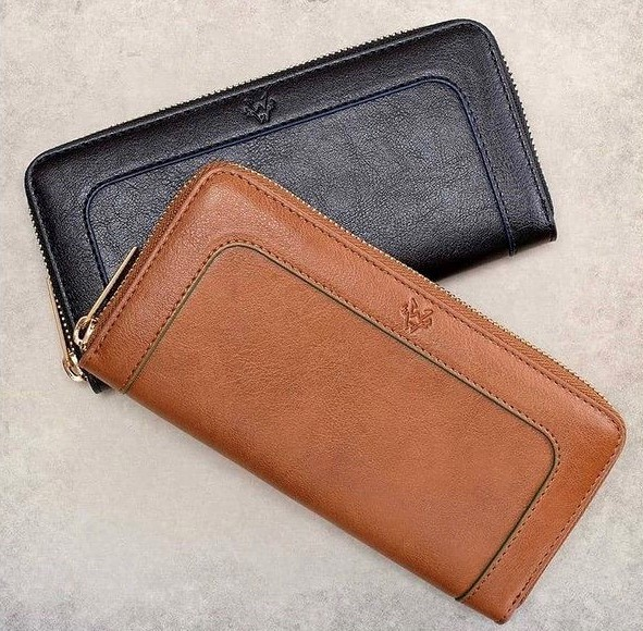 ヴィーガンレザー、革、財布